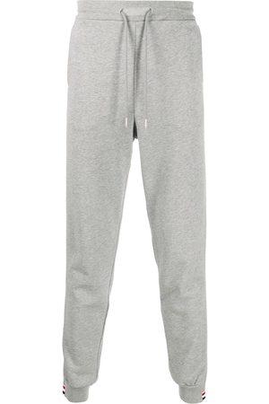 Thom Browne Men Sweatpants - Side stripe insert loopback track pants - Grey
