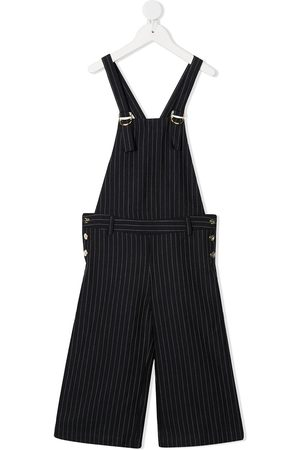 Chloé Pinstripe wide-leg dungarees