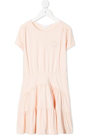 Chloé Logo shift T-shirt dress