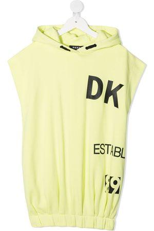 DKNY Logo hooded dress