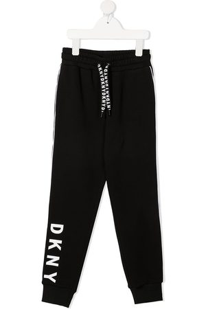 DKNY Logo-print cotton track trousers