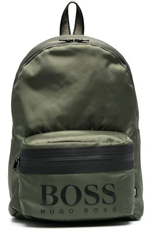 HUGO BOSS Logo-print two-tone backpack