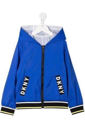 DKNY Logo-detail hooded jacket