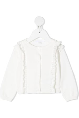 Chloé Ruffle-detailed knitted cardigan