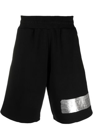Givenchy Metallic logo print track shorts