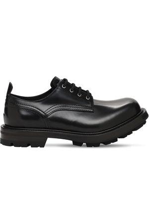 Alexander McQueen Men Shoes - Patent Leather Lace-up Shoes
