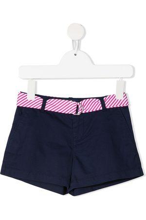Ralph Lauren Belted cotton-blend shorts