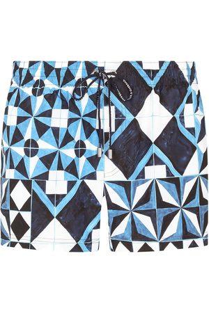 Dolce & Gabbana Painterly-print swimming trunks