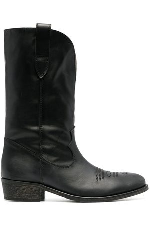 Via Roma Women Cowboy Boots - Leather western-style boots