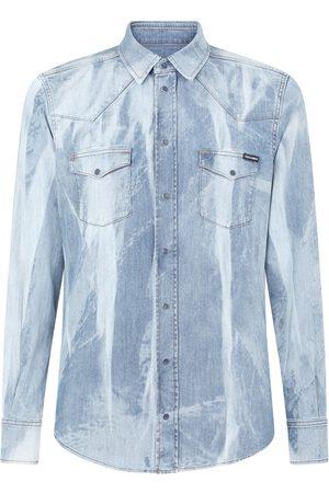 Dolce & Gabbana Bleach-wash denim shirt