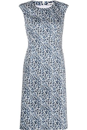 PESERICO SIGN Sleeveless abstract-print dress