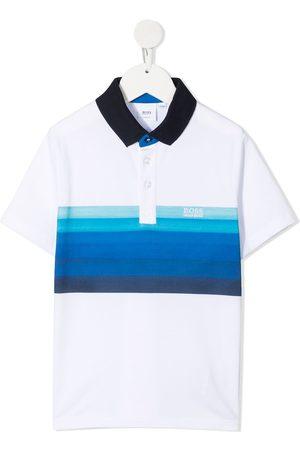 HUGO BOSS Gradient stripe polo shirt