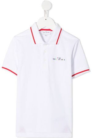 The Marc Jacobs Logo-embroidered graphic-print polo shirt
