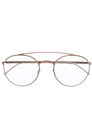 MYKITA Matte-effect round-frame glasses - Metallic
