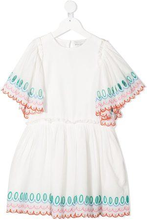 Stella McCartney Embroidered-design short-sleeve dress