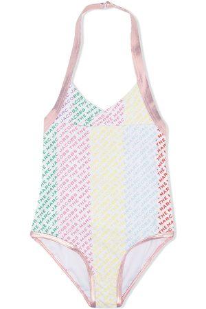 The Marc Jacobs Logo colour-block swimsuit
