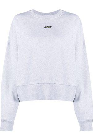 Msgm Embroidered logo sweatshirt - Grey