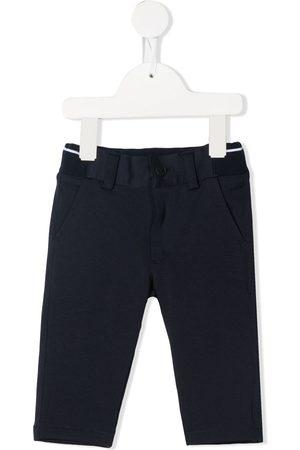 HUGO BOSS Striped-edge chino trousers