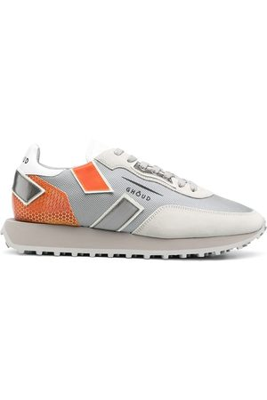 Ghoud Colour-block lace-up trainers - Grey