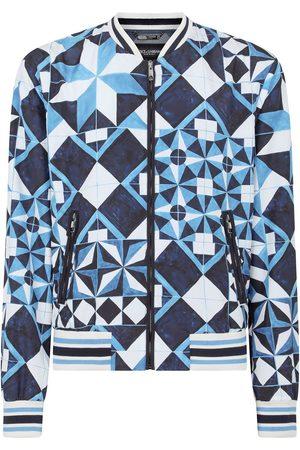 Dolce & Gabbana Majolica-print bomber jacket