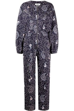 Isabel Marant Paisley-print long-sleeve jumpsuit