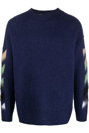 OFF-WHITE Patterned intarsia-knit jumper