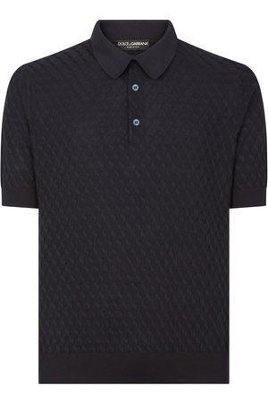 Dolce & Gabbana Patterned jacquard polo shirt