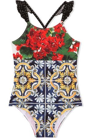 Dolce & Gabbana Floral-print swimsuit
