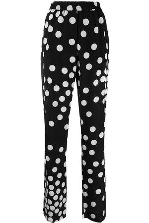 VALENTINO Polka-dot straight-leg trousers