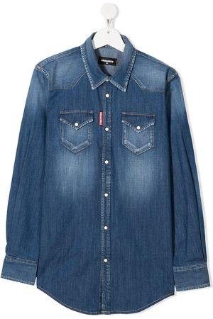 Dsquared2 TEEN faded denim shirt