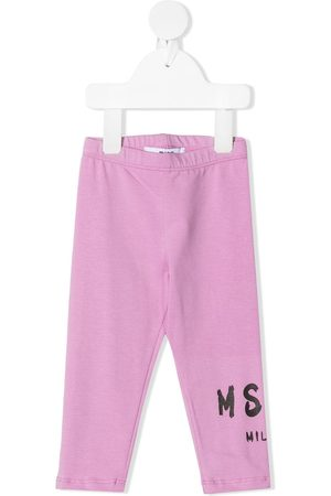 Msgm Logo print leggings