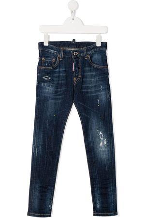Dsquared2 Distressed faded jeans - DENIM BLU