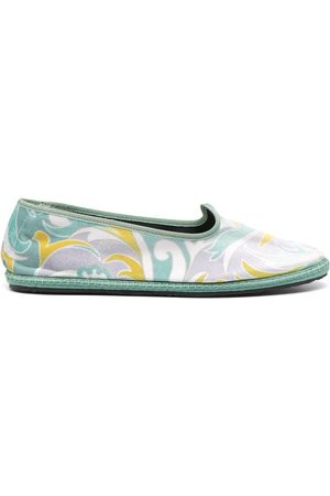 Emilio Pucci Tropicana baby ballet slippers
