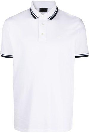 Emporio Armani Striped edge polo shirt