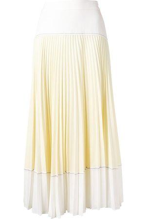 PROENZA SCHOULER WHITE LABEL Two-tone pleated midi skirt