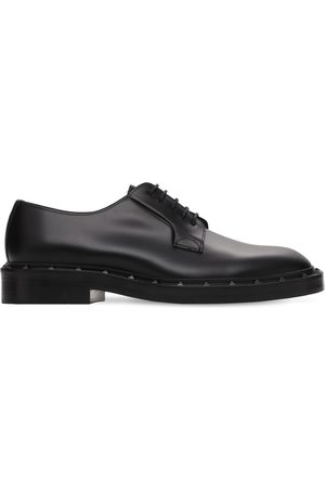 VALENTINO GARAVANI Sleek Studded Leather Derby Shoes