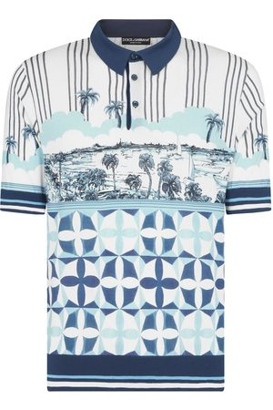 Dolce & Gabbana Majolica-print polo shirt