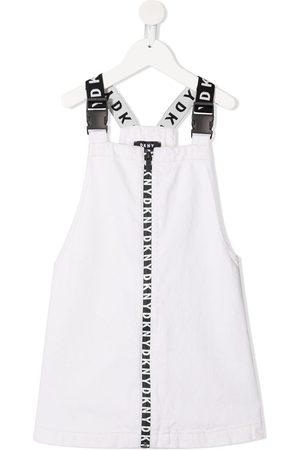 DKNY Logo-print strap cotton dress - Neutrals