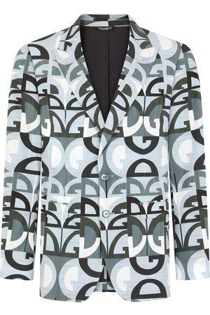 Dolce & Gabbana DG Logo single-breasted blazer