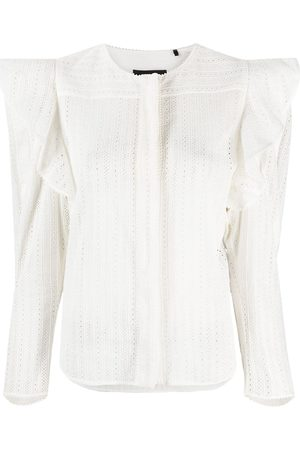 Isabel Marant Broderie anglaise ruffle-trim blouse