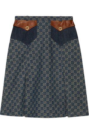 Gucci Eco-washed organic denim skirt