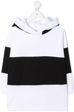 Moncler Striped logo-print hoodie