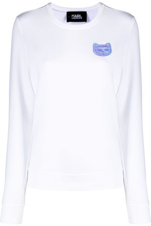 Karl Lagerfeld Mini Ikonik Choupette-patch sweatshirt