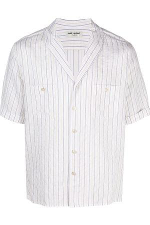Saint Laurent Striped short-sleeve shirt