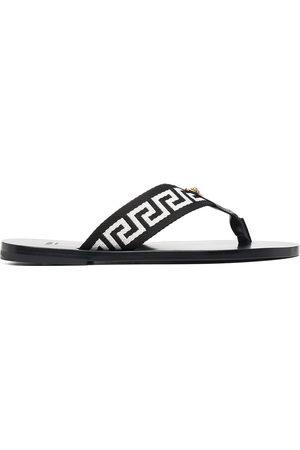 VERSACE Greca-motif thong-strap flip-flops