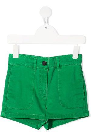 Zadig & Voltaire Girls Shorts - Embroidered-logo cotton denim shorts