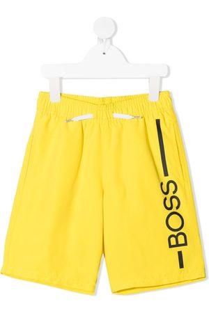 HUGO BOSS Logo-print drawstring swim shorts