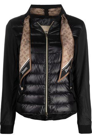 HERNO Women Puffer Jackets - Monogram-scarf puffer jacket