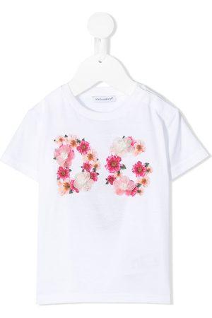 Dolce & Gabbana Floral logo T-shirt