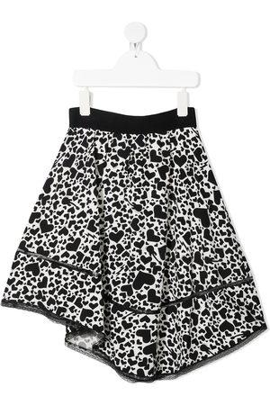 Zadig & Voltaire Kids Girls Printed Skirts - Heart print A-line skirt